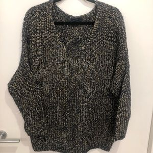 Gold & Navy Sweater